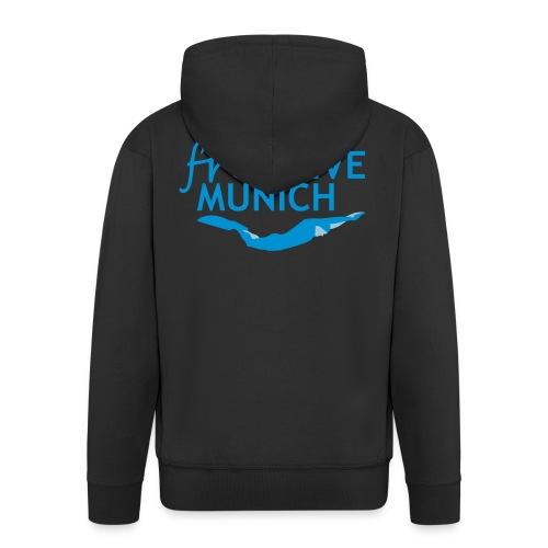 FreeDive Munich Logo zweifarbig - Männer Premium Kapuzenjacke
