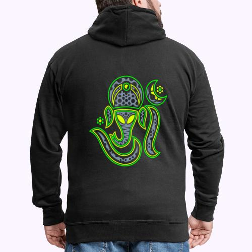 Aum Ganesha 3 Color - Men's Premium Hooded Jacket