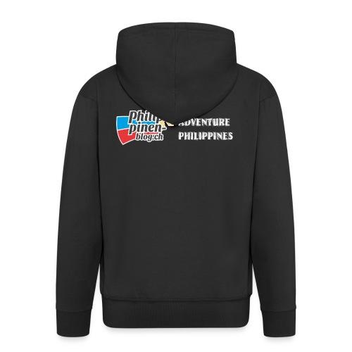 Philippinen-Blog Logo english schwarz/weiss - Männer Premium Kapuzenjacke
