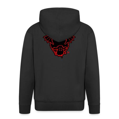 Vampire Sheep (red) - Men's Premium Hooded Jacket