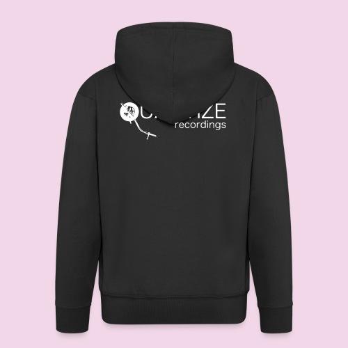 Quantize White Logo - Men's Premium Hooded Jacket