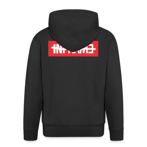 infame.com - Felpa con zip Premium da uomo