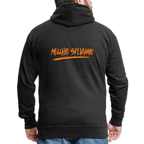 Mucchio Selvaggio 2016 Dirty Orange - Felpa con zip Premium da uomo