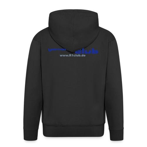 R1club Logo blau - Männer Premium Kapuzenjacke