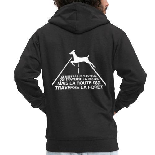 Chevreuil blanc - Veste à capuche Premium Homme