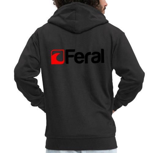 Feral Red Black - Men's Premium Hooded Jacket