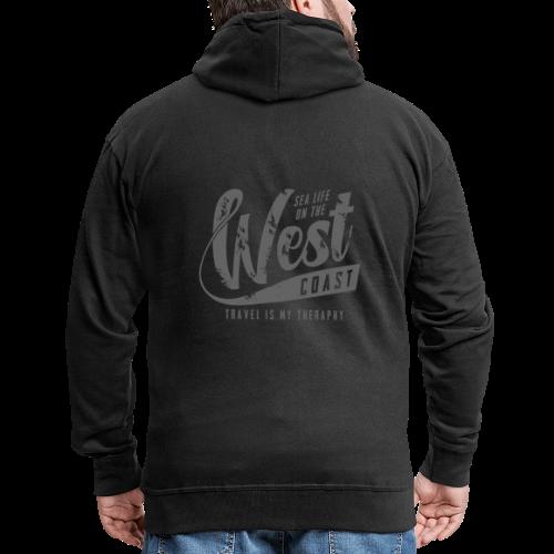 West Coast Sea surf clothes and gifts GP1306B - Miesten premium vetoketjullinen huppari