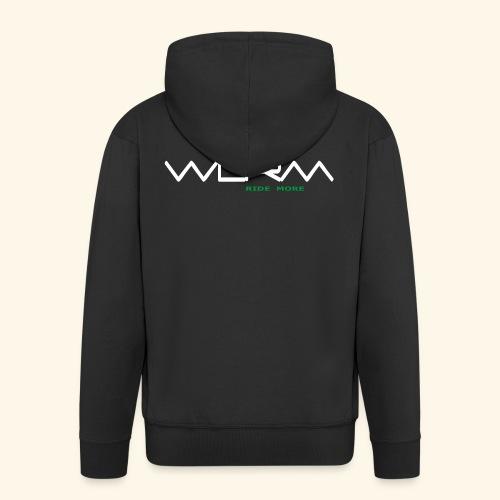WLRM Schriftzug white png - Männer Premium Kapuzenjacke