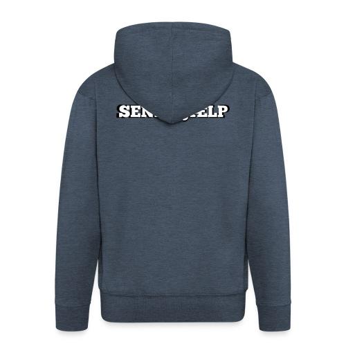 SEND HJÆLP T-shirt - Herre premium hættejakke