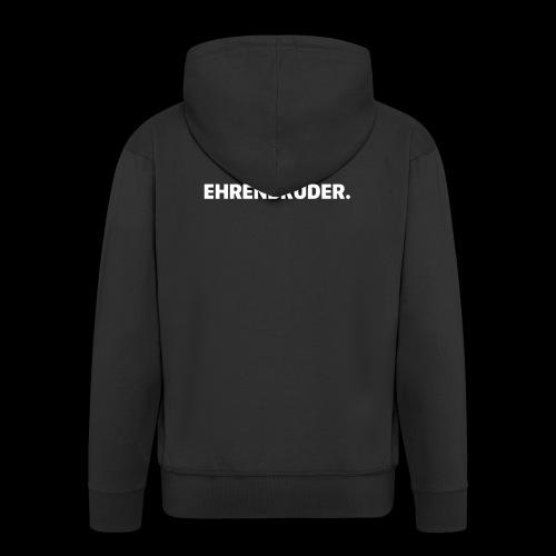 EHRENBRUDER-White - Männer Premium Kapuzenjacke