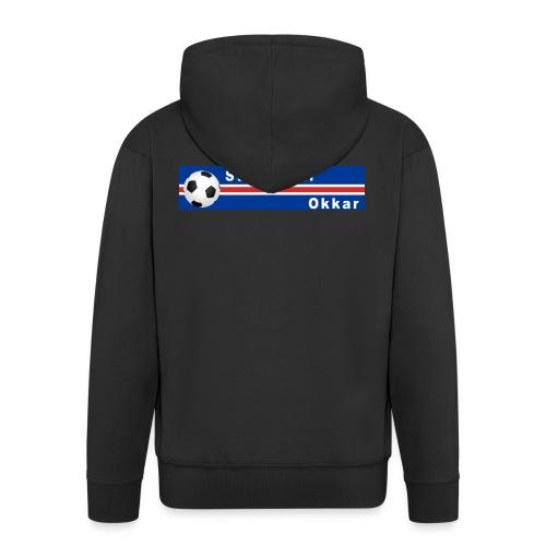 Island strákarnir Okkar - Men's Premium Hooded Jacket