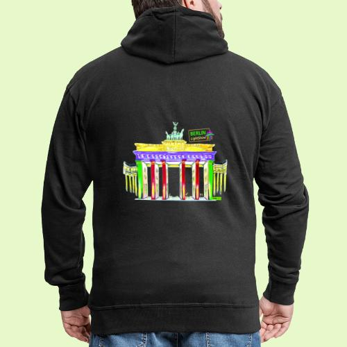 Berlin/Brandenburger Tor/PopArt/BerlinLightShow - Männer Premium Kapuzenjacke