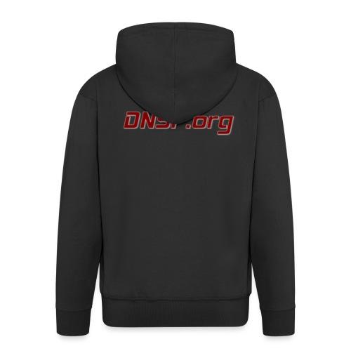 DNSF t-paita - Miesten premium vetoketjullinen huppari