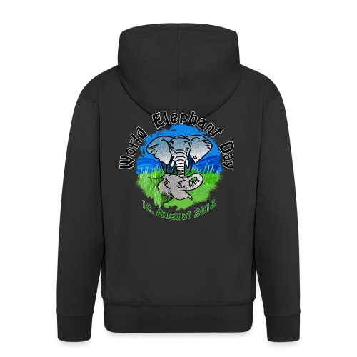 World Elephant Day 2018 - Männer Premium Kapuzenjacke