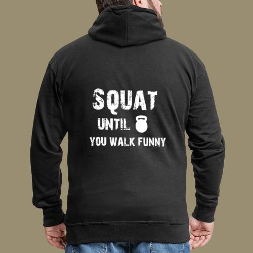 shirtsbydep squat - Mannenjack Premium met capuchon