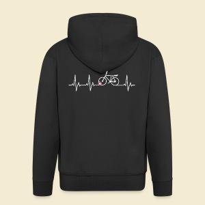 Radball | Heart Monitor White - Männer Premium Kapuzenjacke