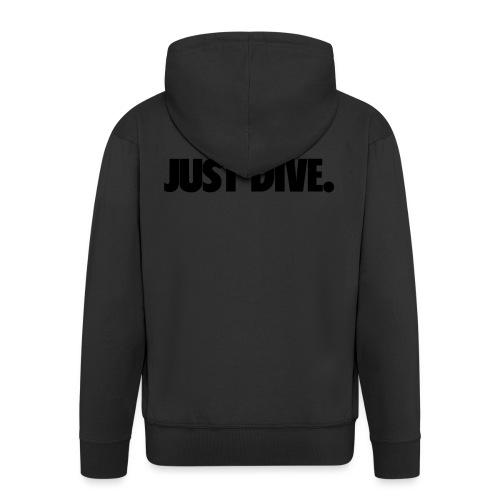 just, dive, nur - Rozpinana bluza męska z kapturem Premium