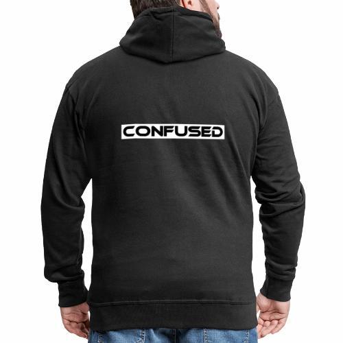 CONFUSED Design, Verwirrt, cool, schlicht - Männer Premium Kapuzenjacke
