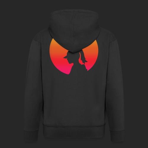 Gradient Girl - Men's Premium Hooded Jacket