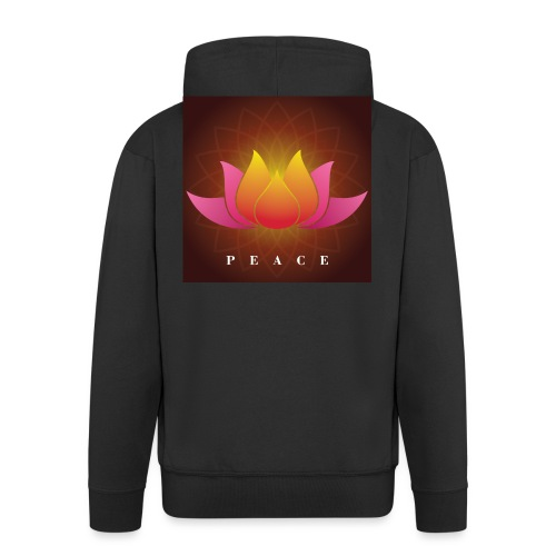 Peace Lotus - Men's Premium Hooded Jacket