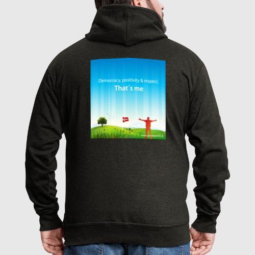 Rolling hills tshirt - Herre premium hættejakke