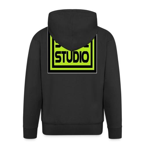 Slave Studio logo - Felpa con zip Premium da uomo