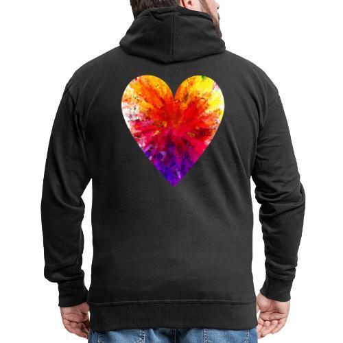 Herz Kristall - Männer Premium Kapuzenjacke