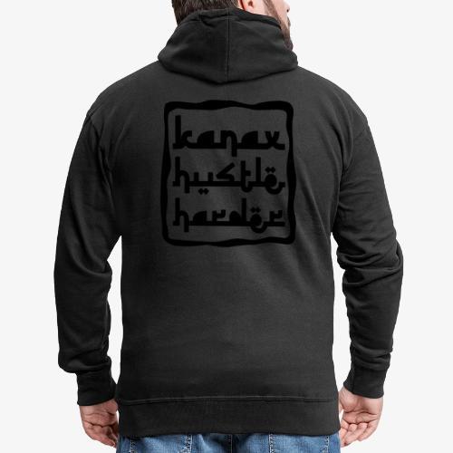 Kanax Hustle Harder black - Männer Premium Kapuzenjacke