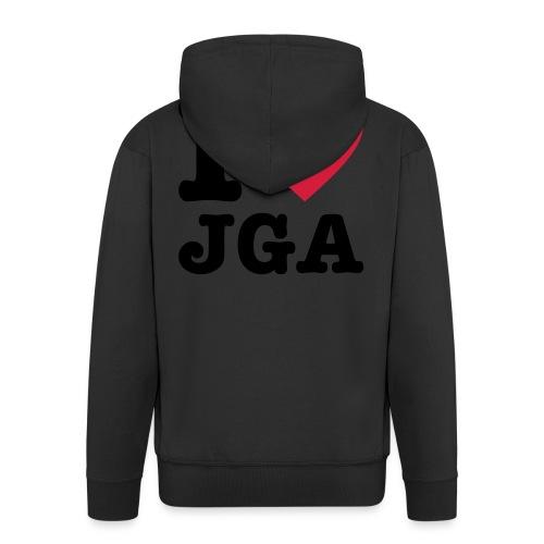 I love JGA - Männer Premium Kapuzenjacke