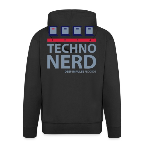Techno Nerd - Men's Premium Hooded Jacket