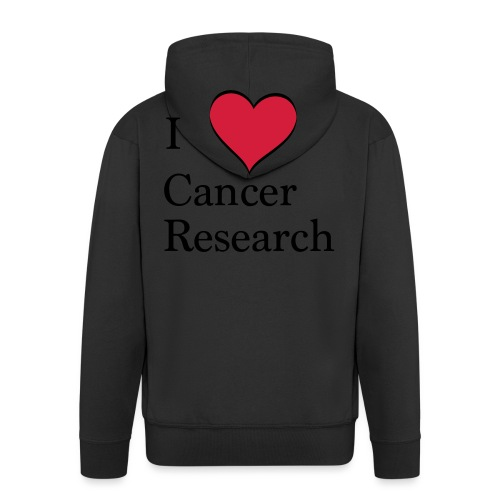 I love cancer research - Männer Premium Kapuzenjacke