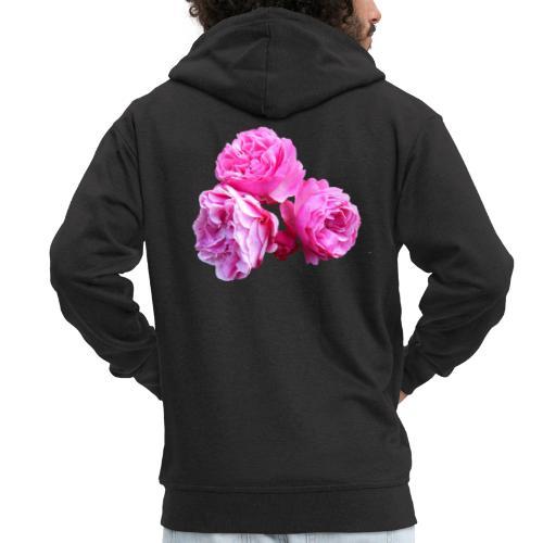 Rose rosa rot Sommer - Männer Premium Kapuzenjacke