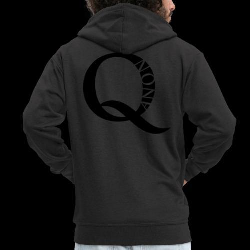 Q Anon Q-Anon Original Logo - Männer Premium Kapuzenjacke