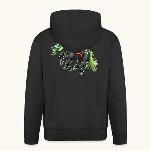 Monter une sorcière sexy sur une licorne. - Veste à capuche Premium Homme