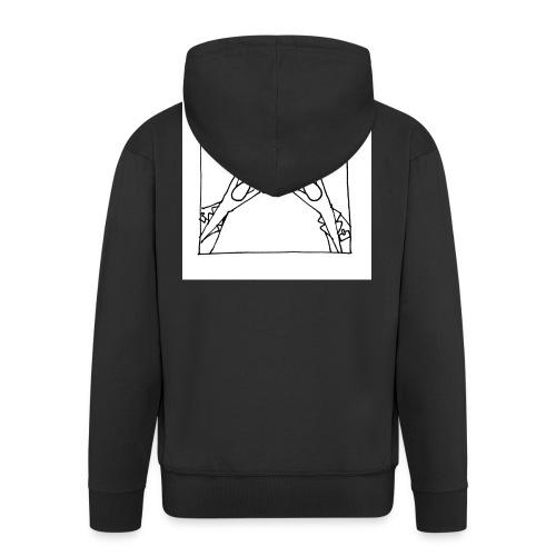 w14 oni - Rozpinana bluza męska z kapturem Premium