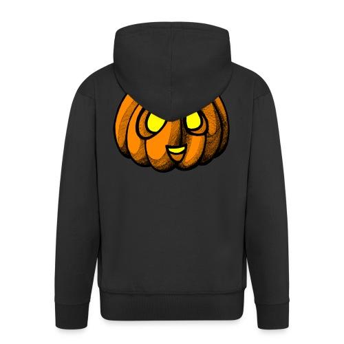 Pumpkin Halloween scribblesirii - Miesten premium vetoketjullinen huppari