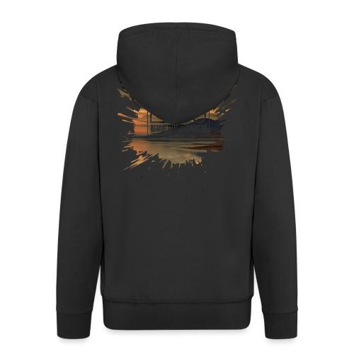 Men's shirt Splatter - Men's Premium Hooded Jacket