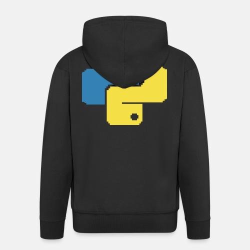 Python Pixelart - Männer Premium Kapuzenjacke