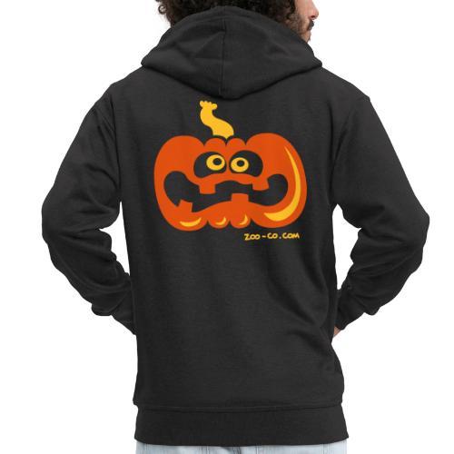 Scared Pumpkin - Men's Premium Hooded Jacket