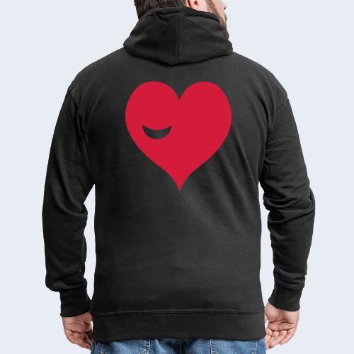Winky Heart - Mannenjack Premium met capuchon
