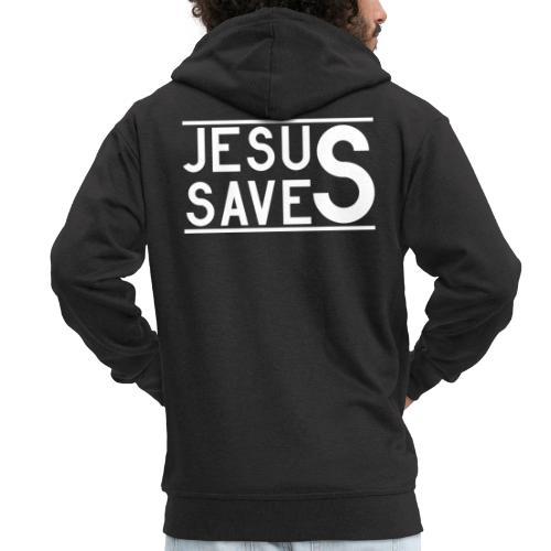 Jesus Saves - Männer Premium Kapuzenjacke