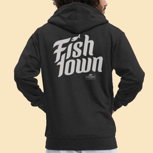 Fishtown Swoosh gray - Männer Premium Kapuzenjacke