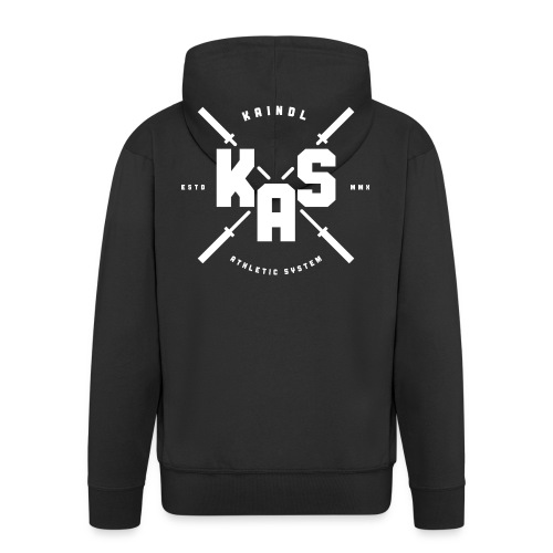 KAS Plain white Logo - Männer Premium Kapuzenjacke