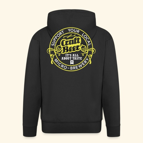 Craft Beer - Männer Premium Kapuzenjacke