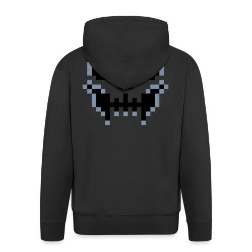 pixel-skull - Men's Premium Hooded Jacket
