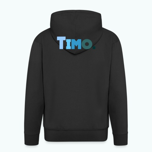 Timo in blauwe tinten - Mannenjack Premium met capuchon