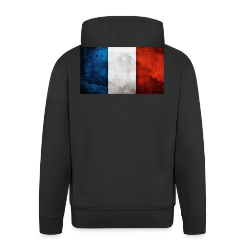 France Flag - Men's Premium Hooded Jacket
