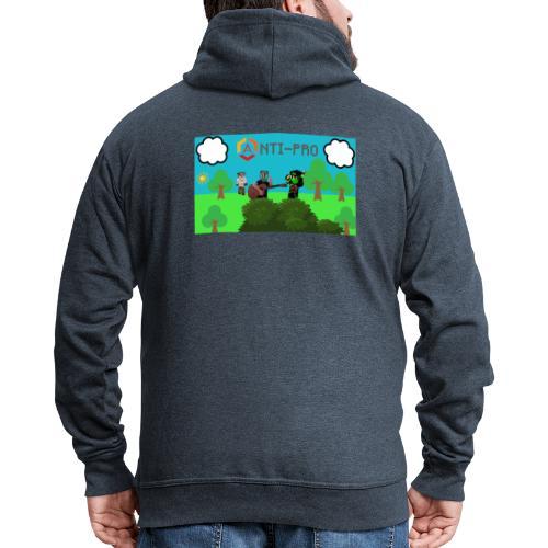 Maglietta Immagine Mario Anti-Pro - Felpa con zip Premium da uomo