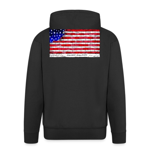 Good Night Human Rights - Men's Premium Hooded Jacket