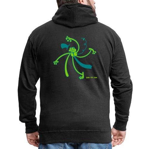 Dancing Frog - Men's Premium Hooded Jacket